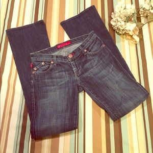 Rock & Republic Sexy Dark Wash Flare Leg Jeans 26""